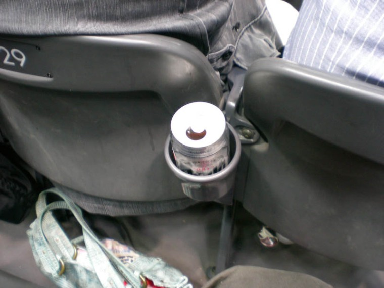 Cup holders - they think of everything!