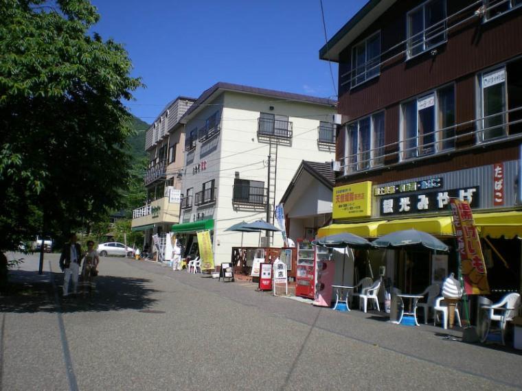 Shikotsuko-onsen town.