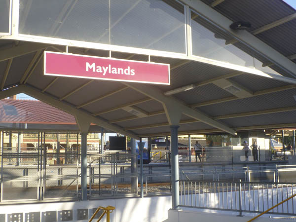 Maylands train station. Where it all begins.