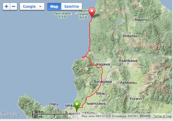 Here's the map of the first one. And you can click on it to see the Strava report.