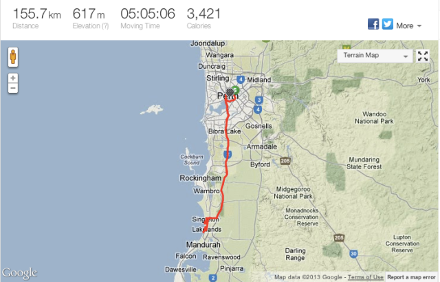 The full ride. Click to see it on Strava if you're into that sort of thing.
